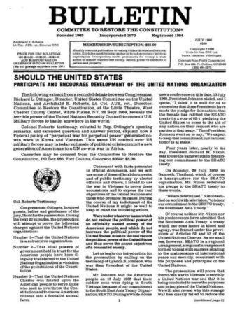 Collins,Communism 2,Eugenics,Foreign,Jesus 2,Nixon,Propaganda 2,Socialism 2,UNESCO,United Nations 1,World Government