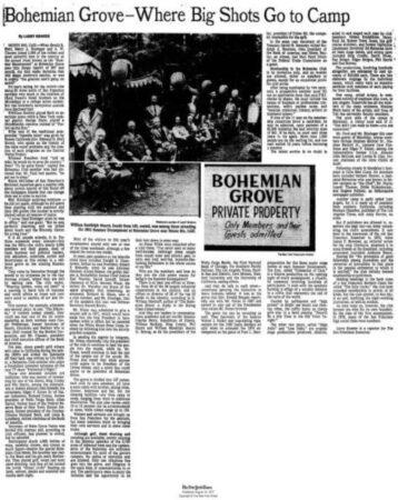 Bohemian,Grove,Kissinger,Nixon,Owl,Reagan,Rockefeller,Secret societies,Wernher