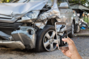 Photographing a car accident