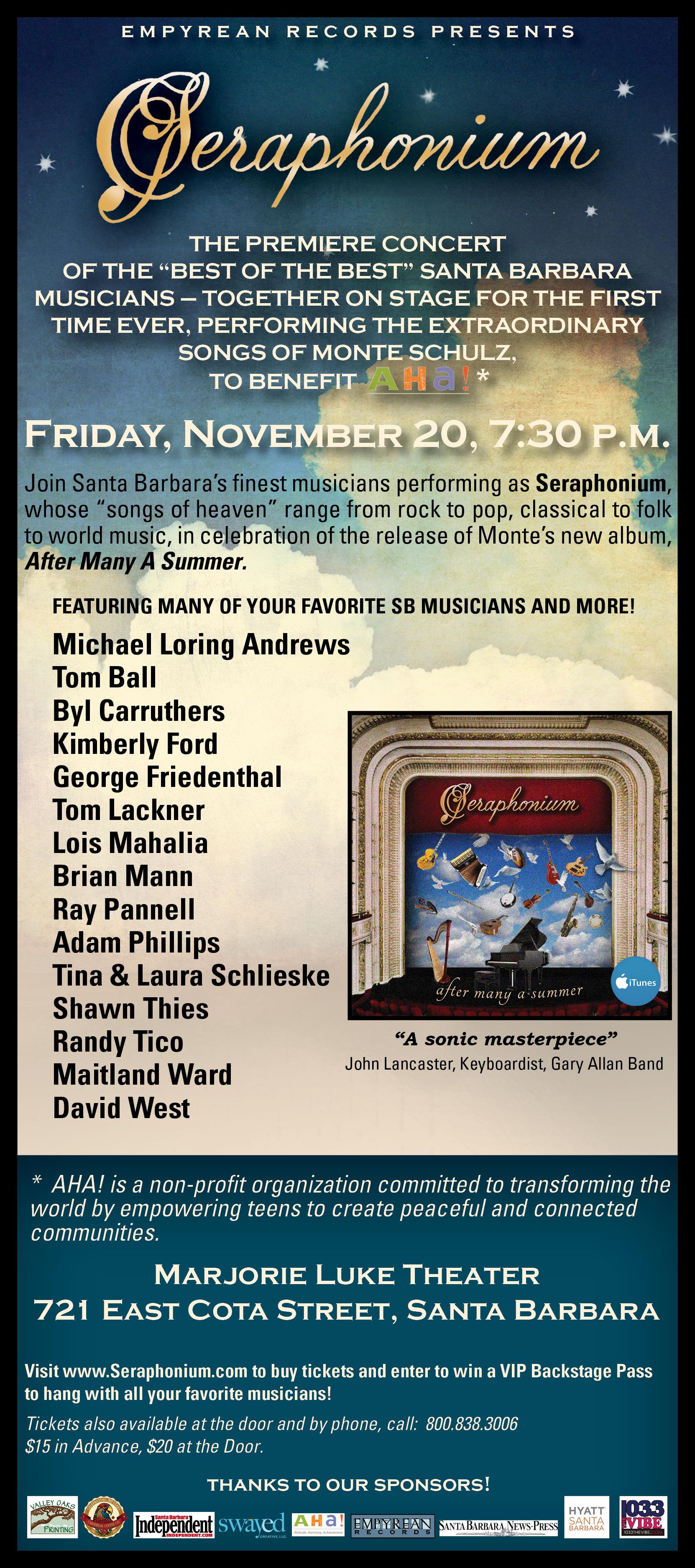 Seraphonium – Live Concert Poster – Nov.20, 2015