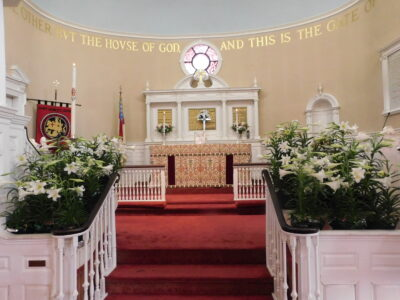1--St Geo altar Easter 4.21.2019