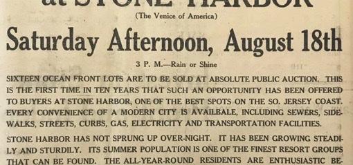 Stone Harbor Museum #42 The 1928 7 Mile Beach Reporter