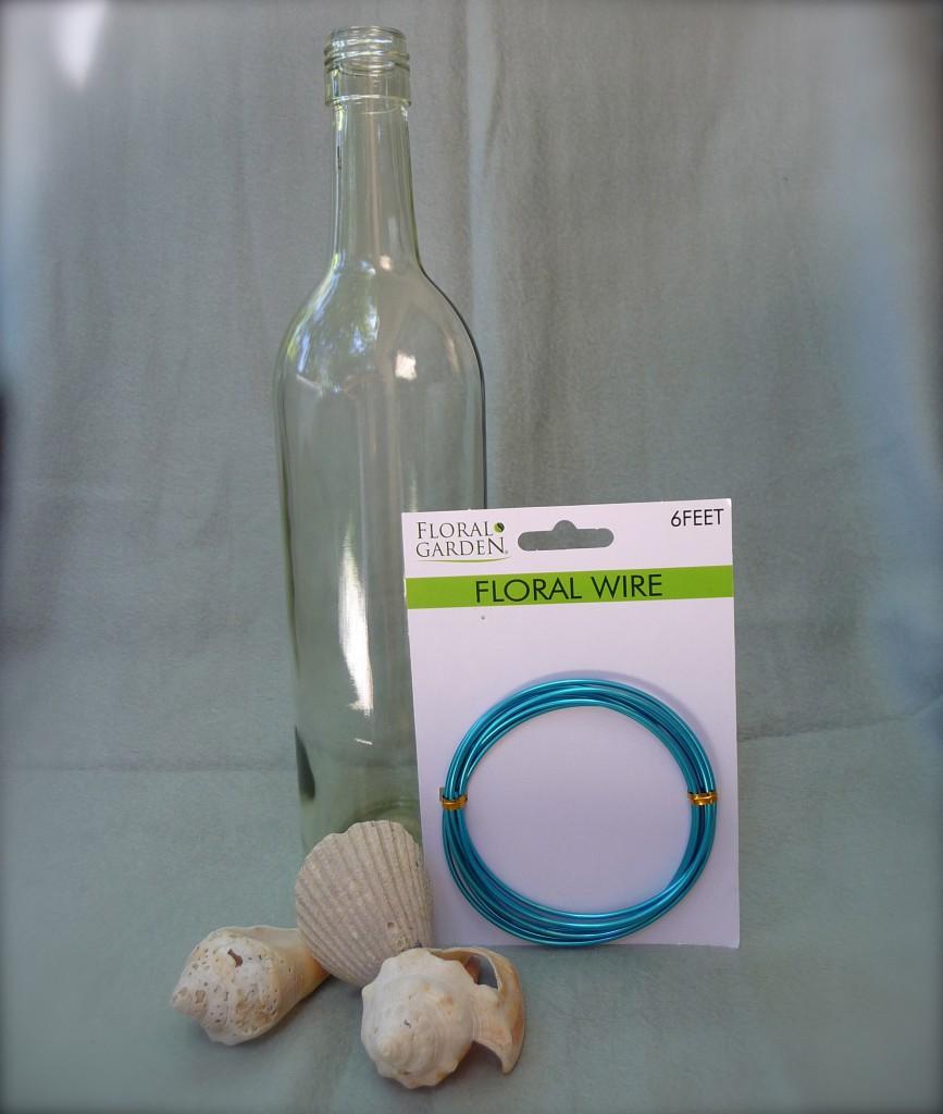 Vase from Wine Bottle