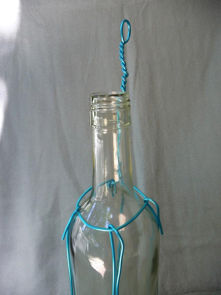 Vase from Wine Bottles