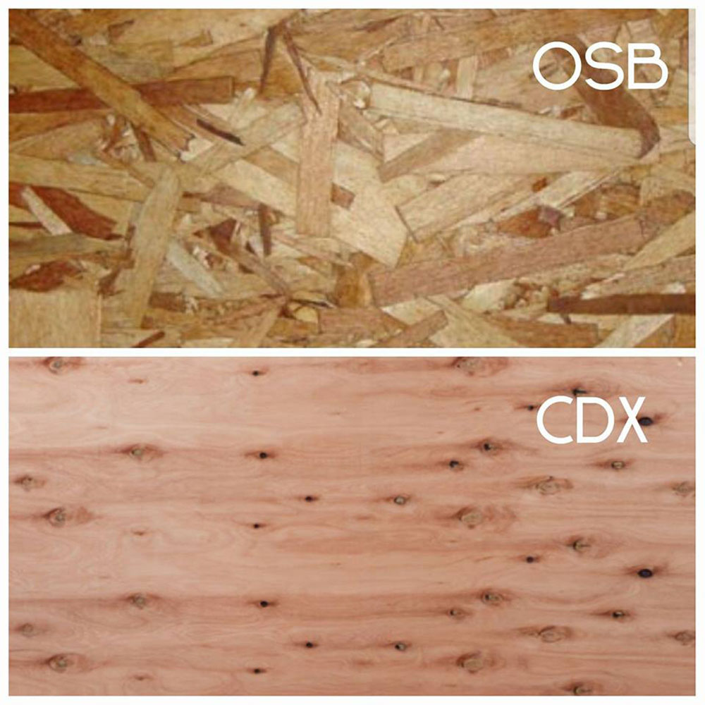 CDX or OSB for roof sheathing