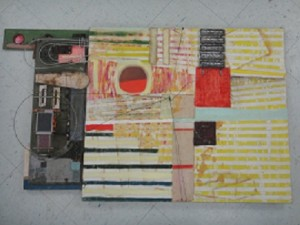 Cameron Gallery - Assemblage with Stripes - Jeff Israel
