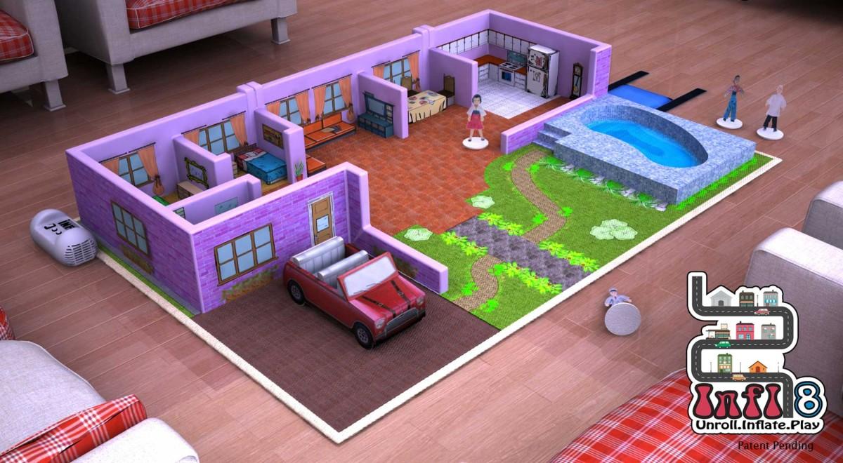 Digital Prototype Rendering Infl-8 Doll House Play Mat
