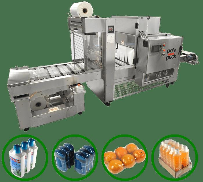 Máquinas envolvedoras con transportador de cangilones en línea