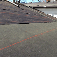 A low sloping roof can be covered with a minimum of two sheets. A base sheet and a cap sheet.