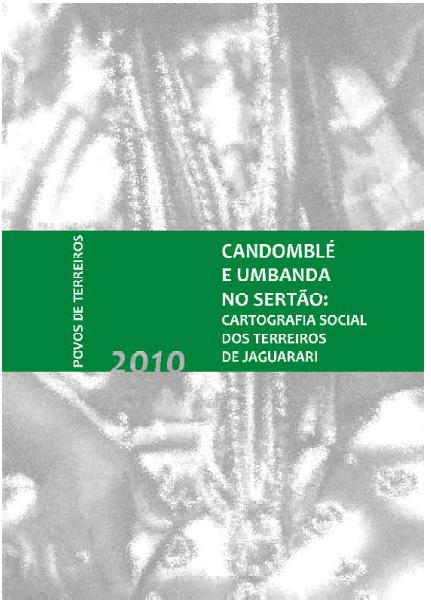 Capa de Livro: Candomblé e Umbanda no Sertão - Cartografia Social dos terreiros de Jaguarari