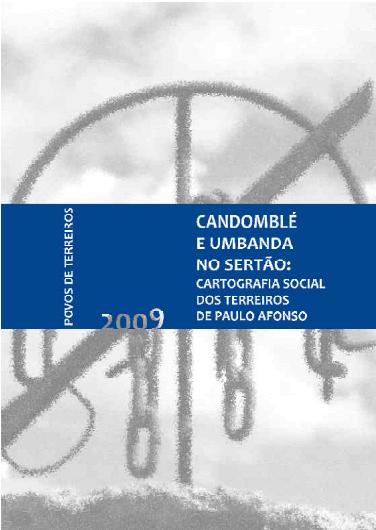 Capa de Livro: Candomblé e Umbanda no Sertão - Cartografia Social dos terreiros de Paulo Afonso