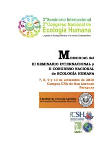 Capa de Livro: Memorias del III Seminario Internacional de Ecología Humana y II Congreso Nacional de Ecología Humana.