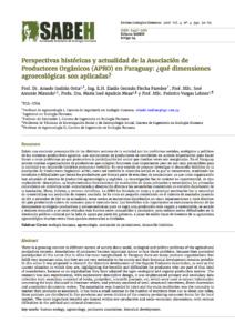 Capa de Livro: Perspectivas históricas y actualidad de la Asociación de Productores Orgánicos (APRO) en Paraguay: ¿qué dimensiones agroecológicas son aplicadas?