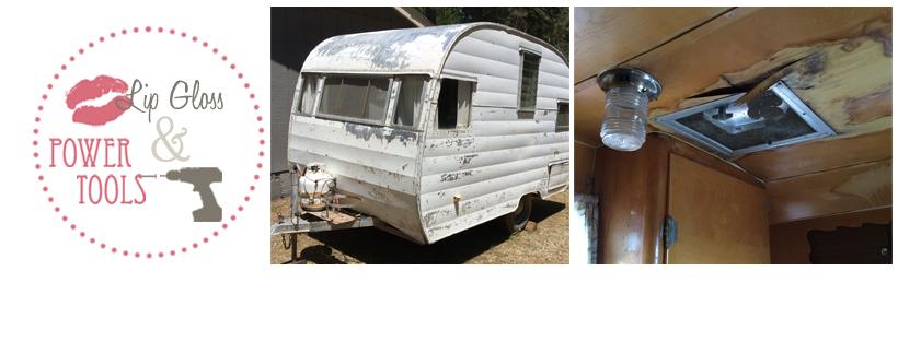 vintage camper trailer restoration paneling