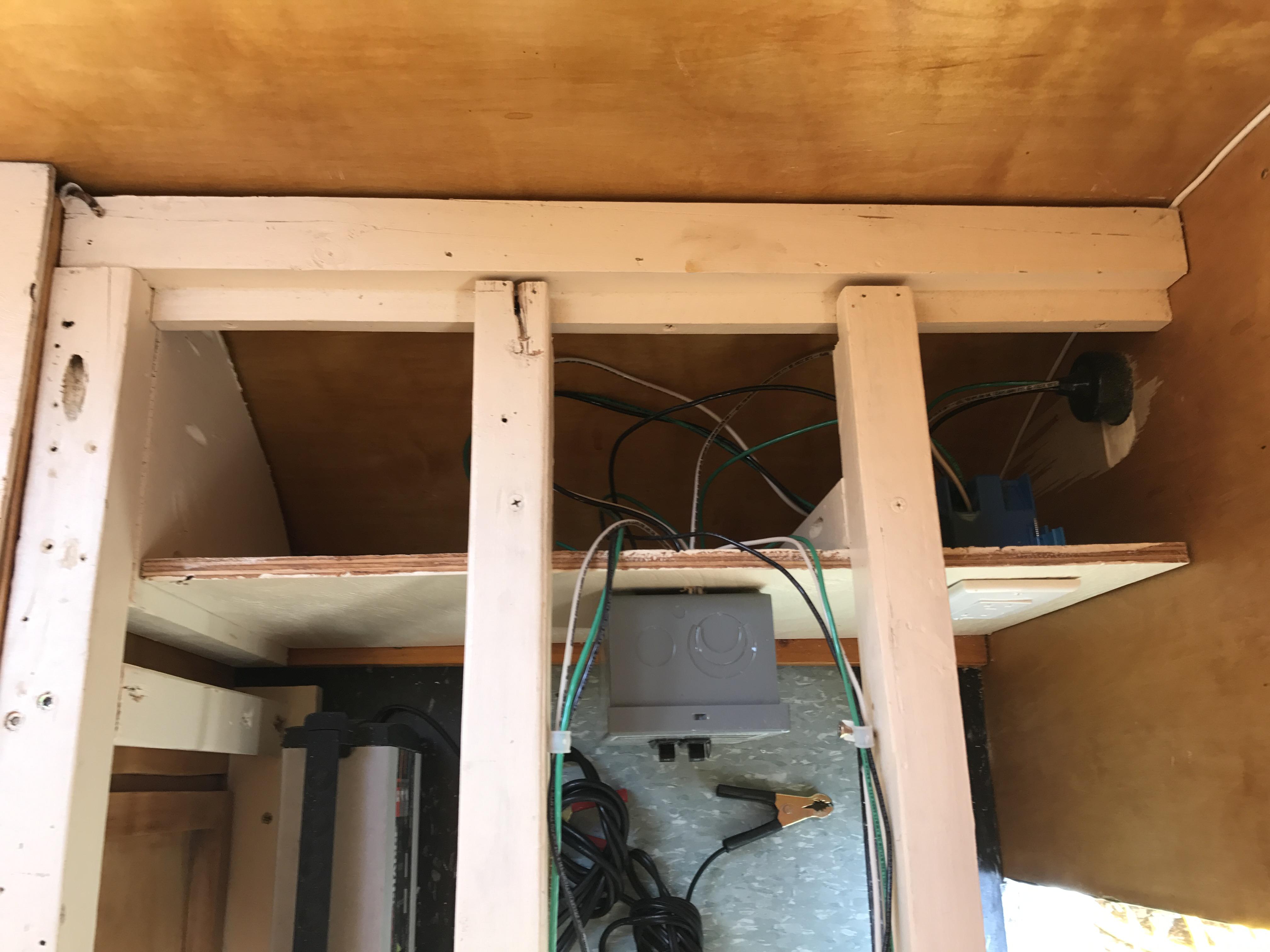 Vintage camper restoration electrical
