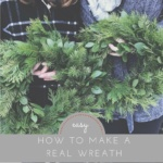 DIY wire Christmas wreath