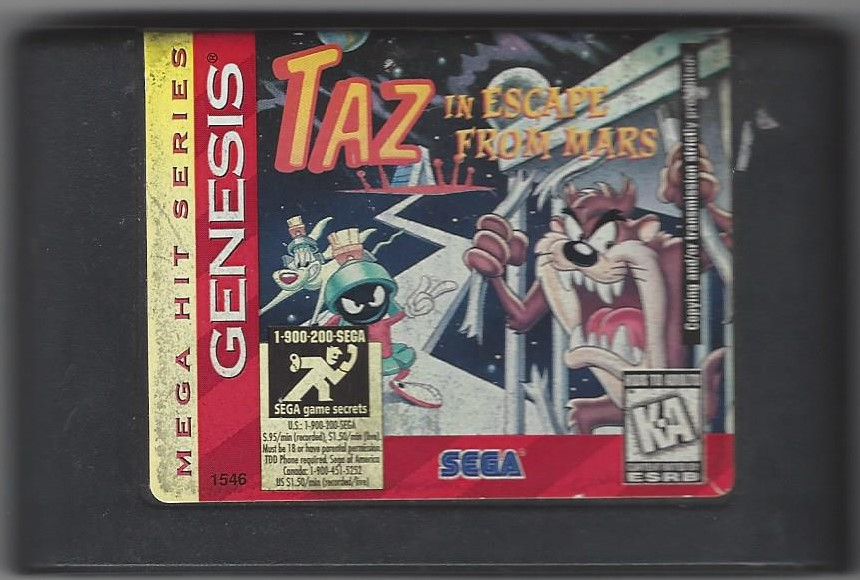 Taz in Escape from Mars - Genesis Game