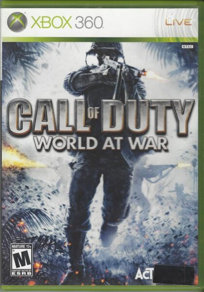 Call Of Duty World At War Xbox 360 Game Video Game Wizards