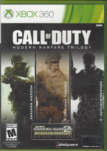Call Of Duty Modern Warfare Trilogy Xbox 360 Game Video Game