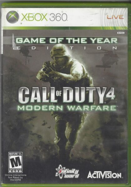 Call Of Duty 4 Modern Warfare Game Of The Year Edition Xbox