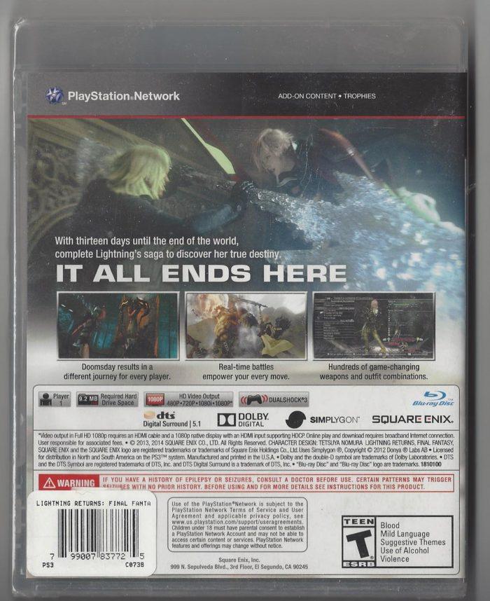 Lighting Returns : Final Fantasy XIII playstation 3 (PS3)