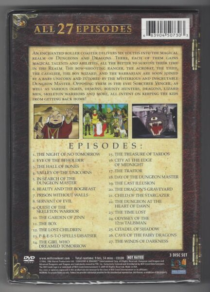 Dungeons & Dragons : The Animated Series all 27 Episodes - DVD