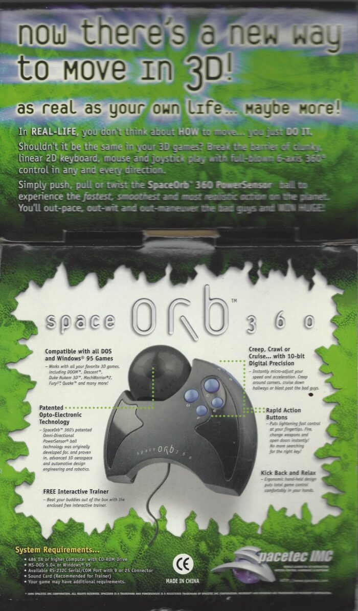 Spacetec IMC Spaceorb 360 3D Game Controller Space Orb