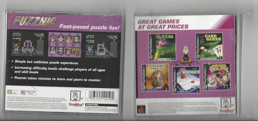 Puzznic - Playstation (PS1)