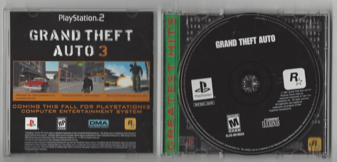 Grand Theft Auto Greatest Hits - Playstation (PS1)