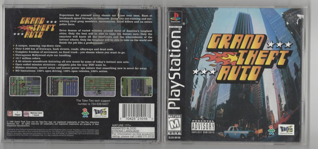 Grand Theft Auto - Playstation (PS1)