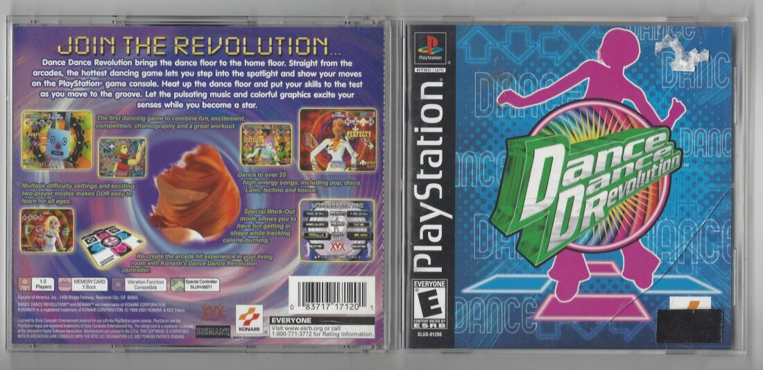 Dance Dance Revolution - Playstation (PS1) cracked case