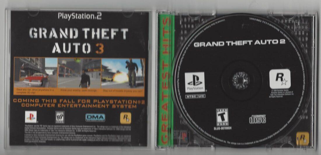 GTA2 Grand Theft Auto 2 Greatest Hits - Playstation (PS1)