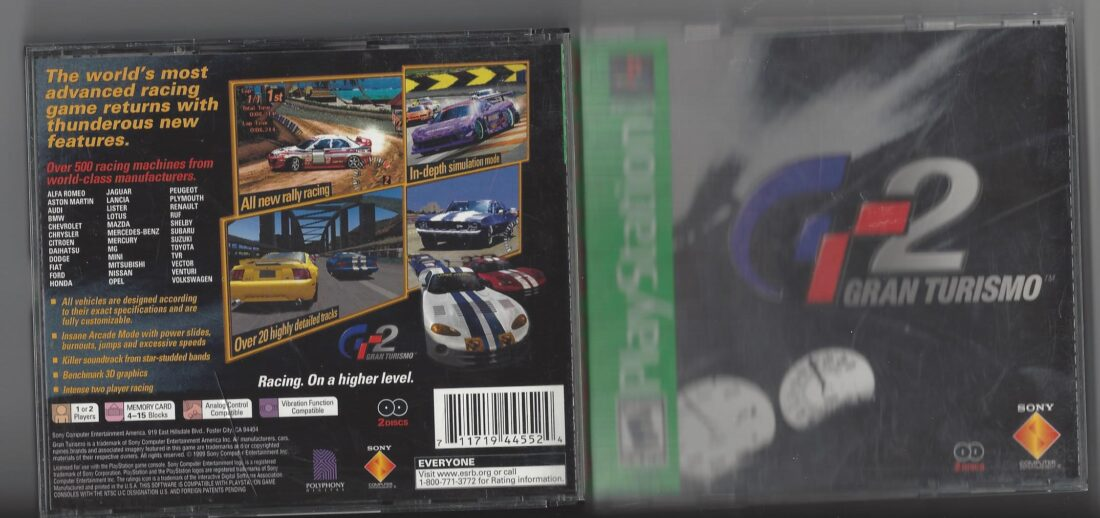 Gran Turismo 2 GT2 Greatest Hits - Playstation (PS1)