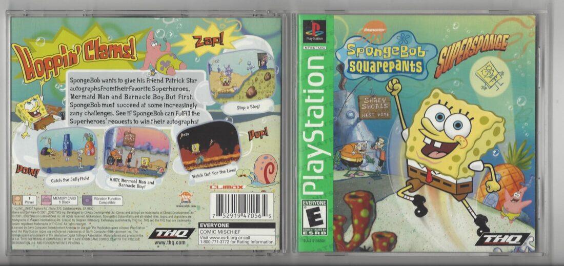 SpongeBob Squarepants : SuperSponge Greatest Hits - Playstation (PS1)
