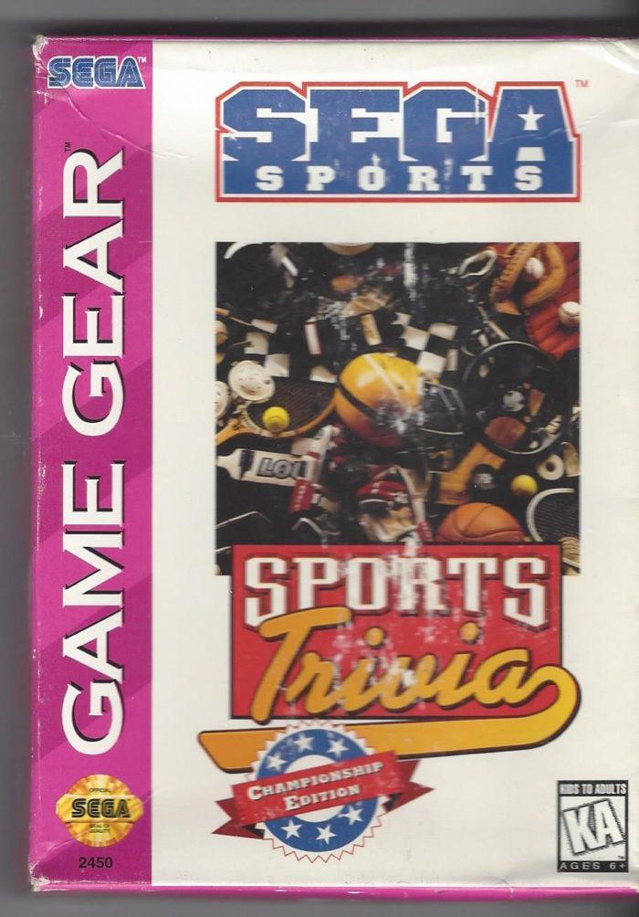 Sega Sports : Sports Trivia Championship Edition - Game Gear (GG)