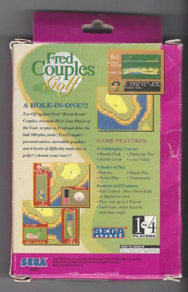 Sega Sports : Fred Couples Golf - Game Gear (GG)