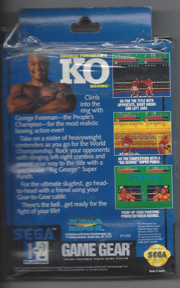 George Forman's KO Boxing - Game Gear (GG)