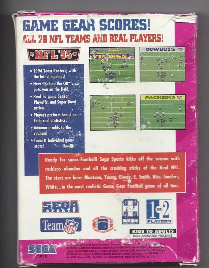 NFL '95 Sega Sports - Game Gear (GG)