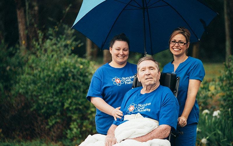 ncp nurses taking care of elderly man