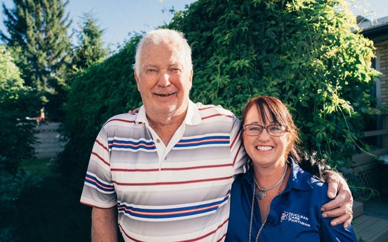 Ken S with NCP employee