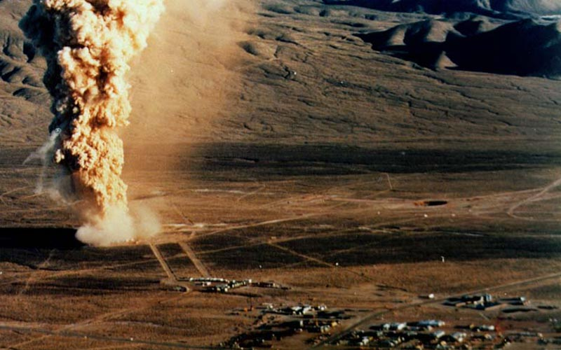 bomb test site