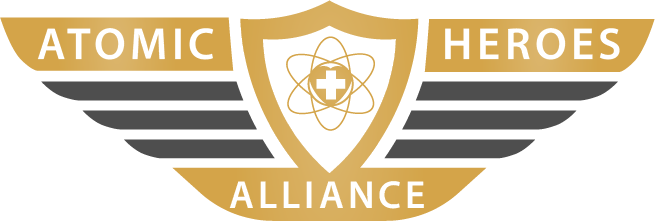 Atomic Heroes Alliance pin logo