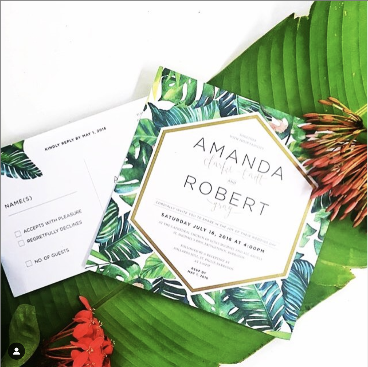Amanda & Robbie wedding invitation