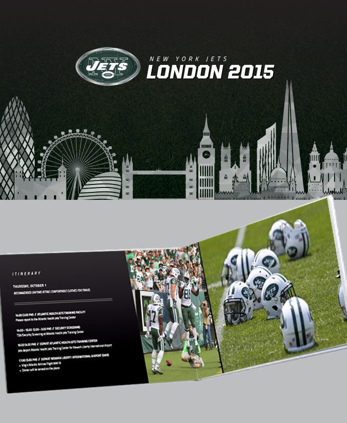 NY Jets in London, England Program