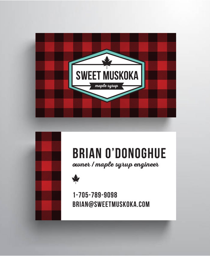 Sweet Muskoka business card
