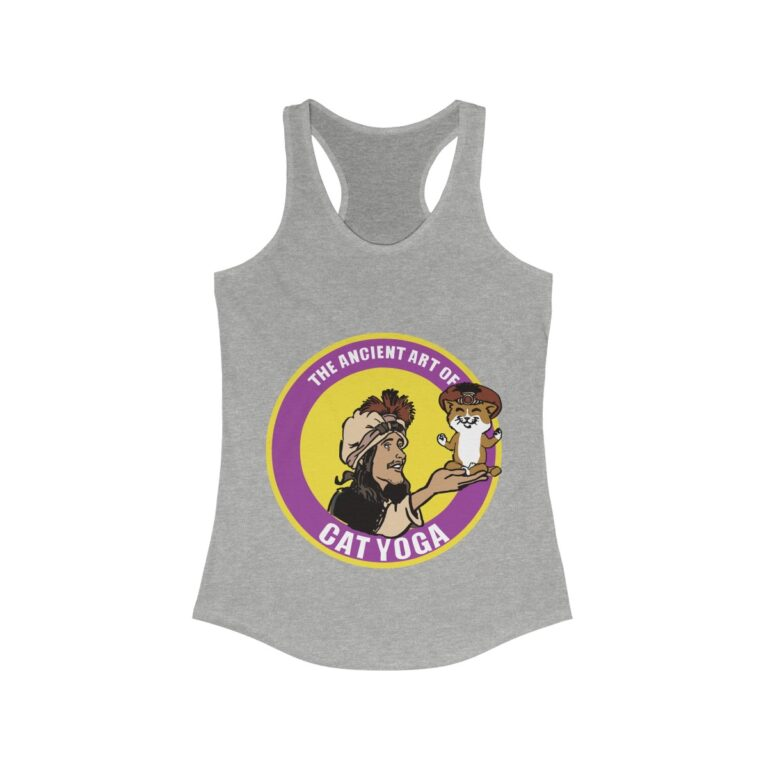 Heather Grey Tank Top Purple Front