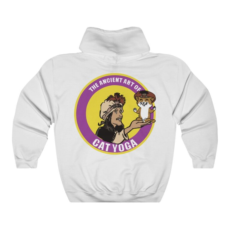 White Hoodie with Purple Yellow Logo