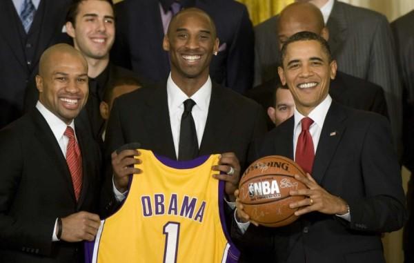 Kobe Bryant con Obama
