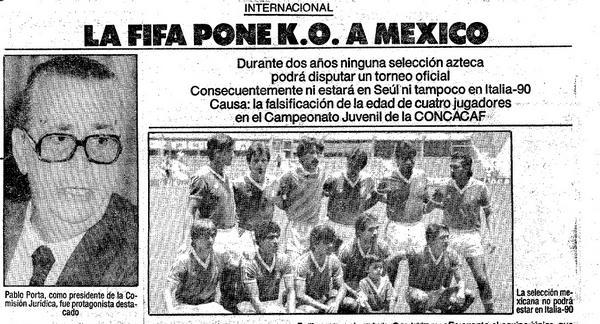 Seleccion mexicana 1988