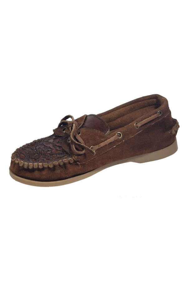 Women hand tooled moccasins